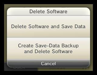 how to delete nintendo dsi shop app