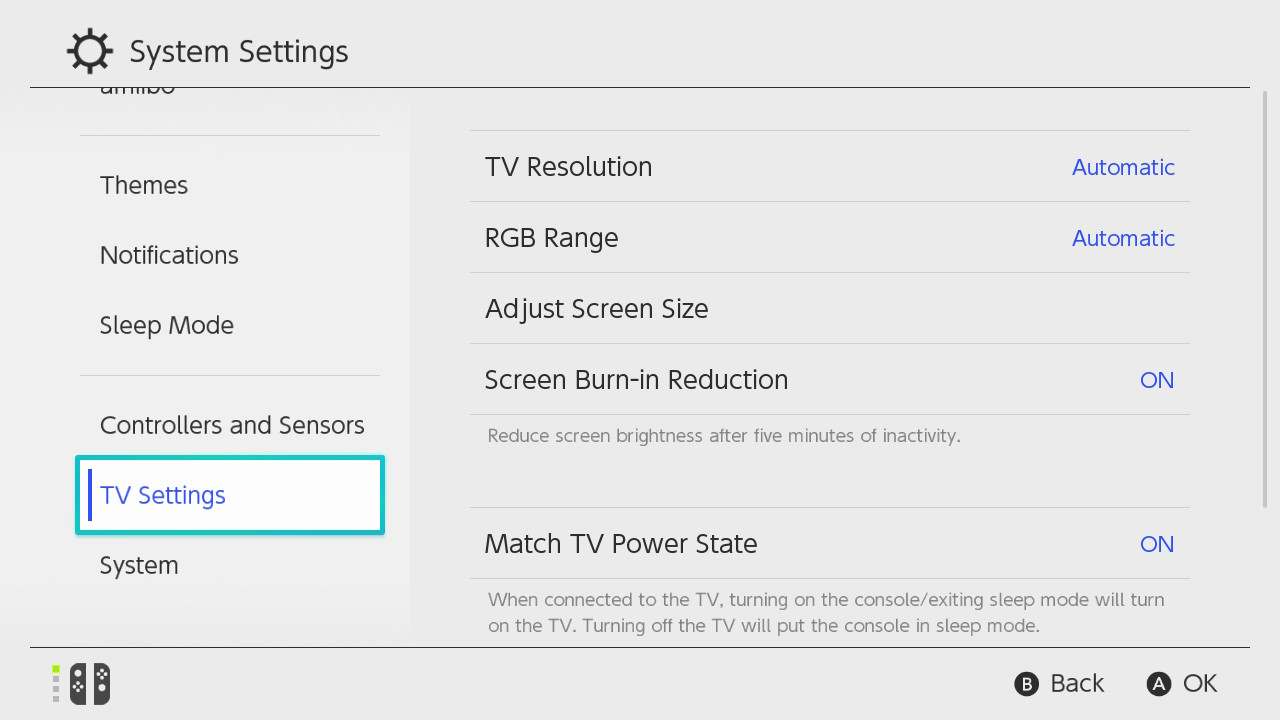 How To Activate Screen Burn In Reduction Nintendo Support