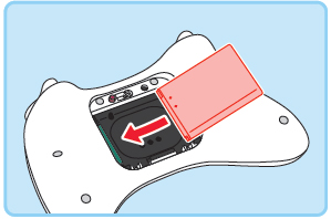 how to remove or replace the battery in a wii u pro controller after 10 seconds insert the new battery from the right