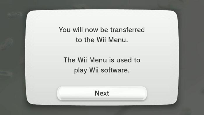 My wii menu screen black&white dress