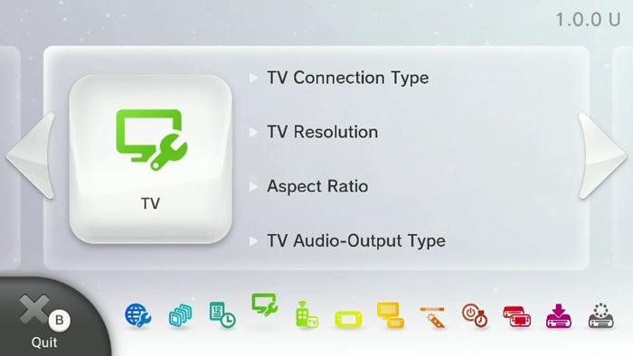 Wii U System Settings